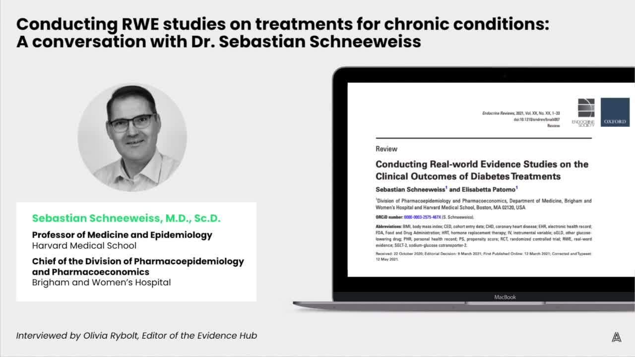 Conducting RWE studies on chronic conditions