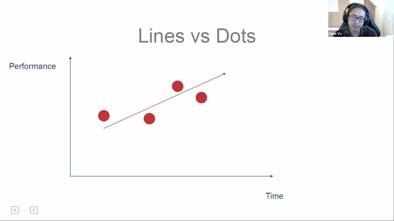 Lines vs dots