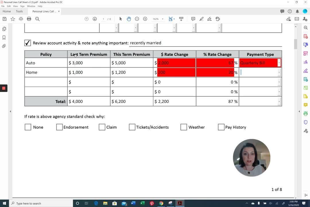 AppX Retention Call Sheet_ Premium Change