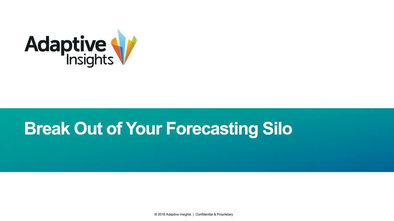 Screenshot for Break Out of Your Forecasting Silo