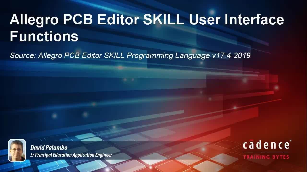 Allegro PCB Editor SKILL User Interface Functions