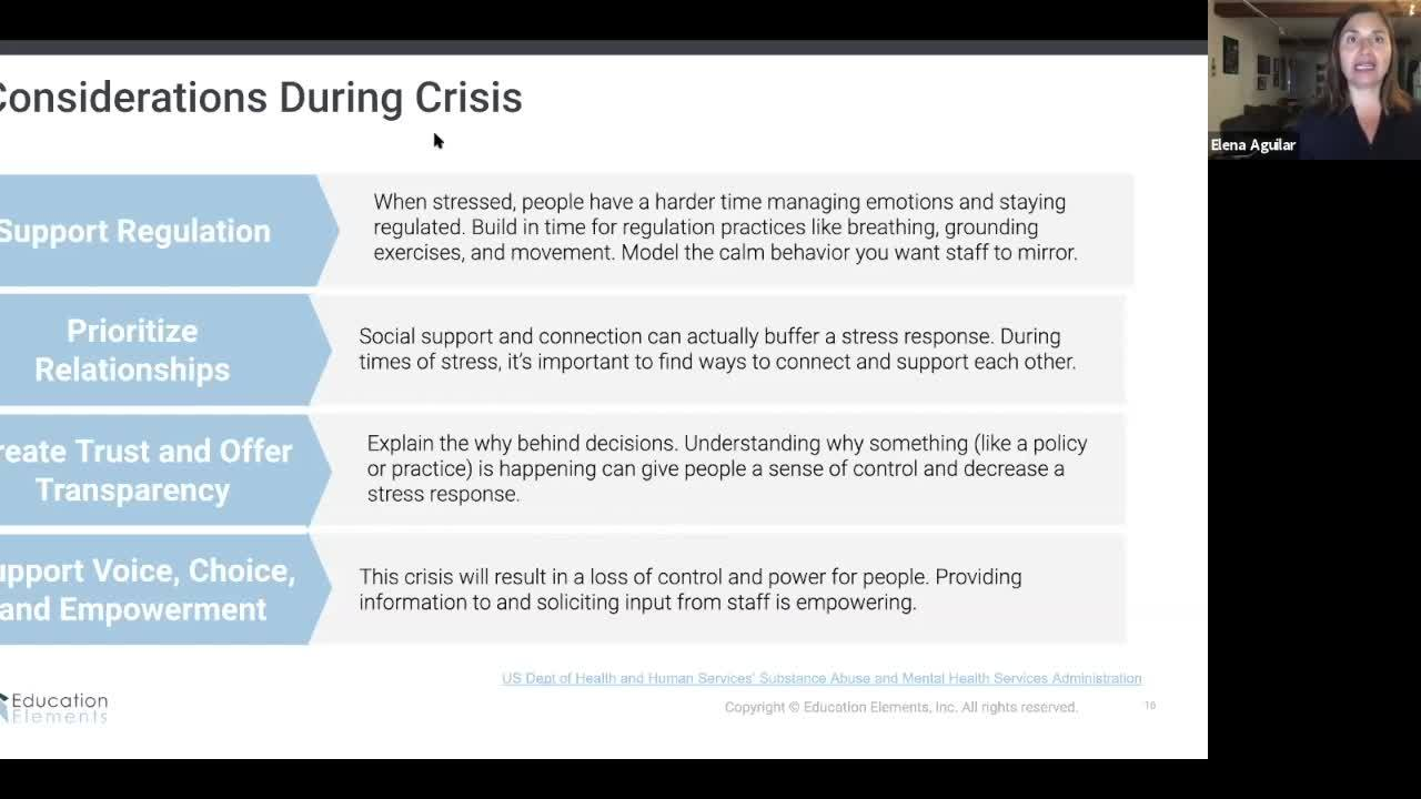 Webinar 521 - Trauma Informed Leadership - Elena Aguilar Guest