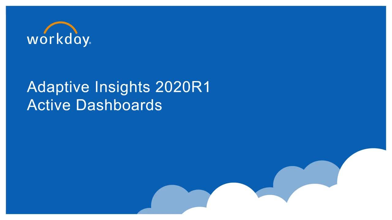 Active Dashboards - What's New 2020R1