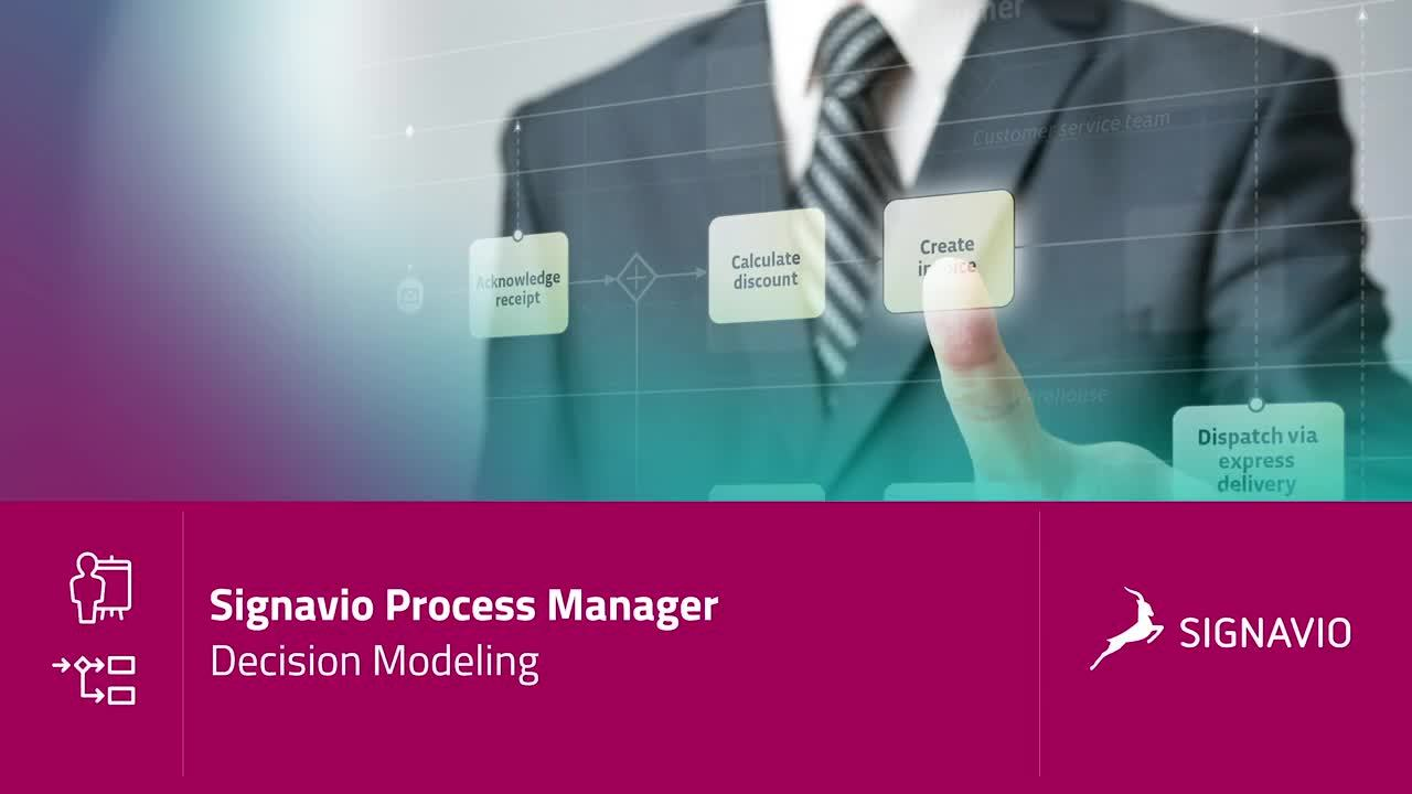 Signavio Process Manager - Decision Modeling