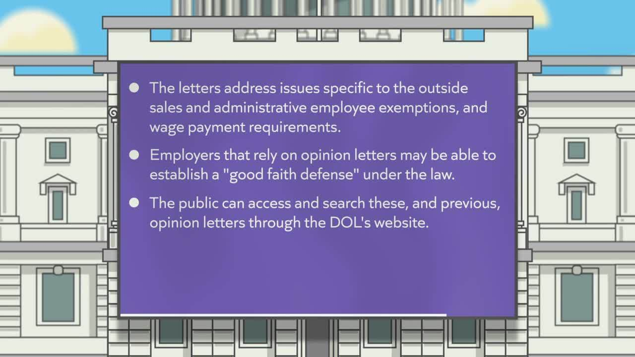 DOL Issues 5 New FLSA Opinion Letters