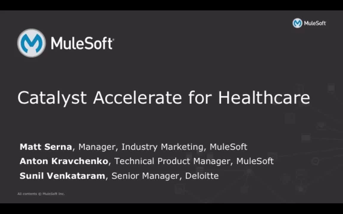 Webinar: MuleSoft Catalyst for Healthcare