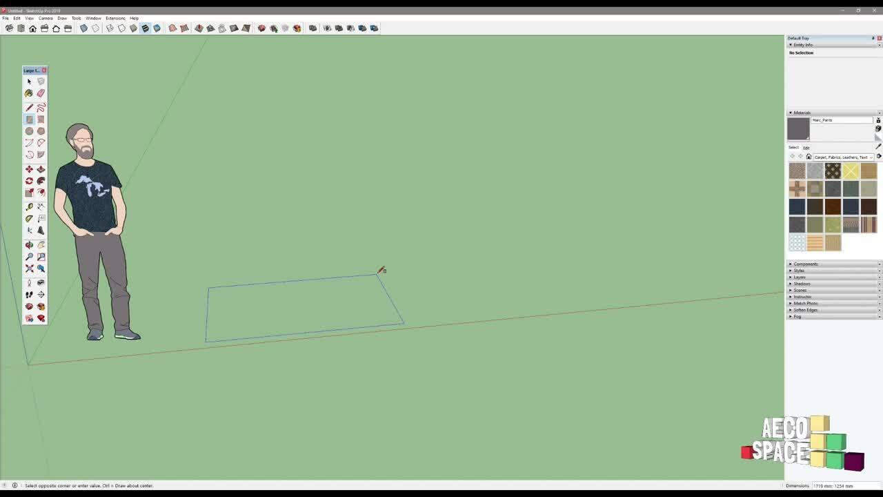 2. Осносни инструменти за работа в SketchUp