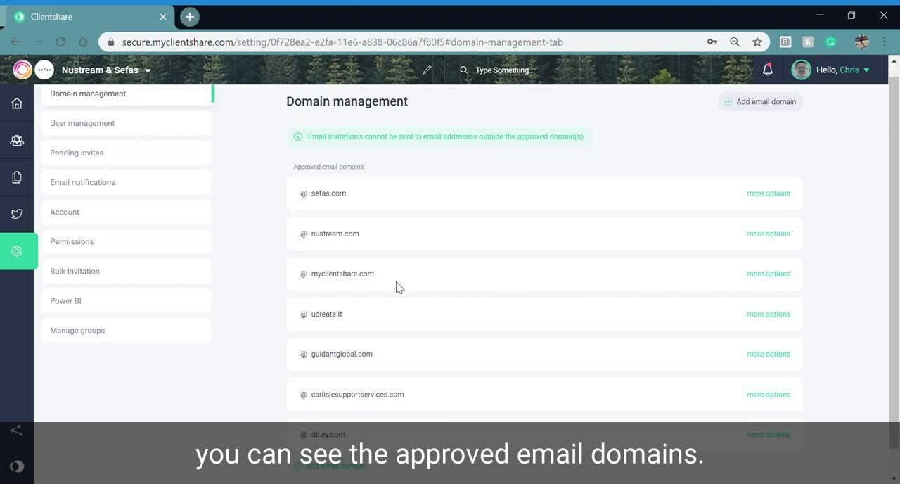 Add Email Domain