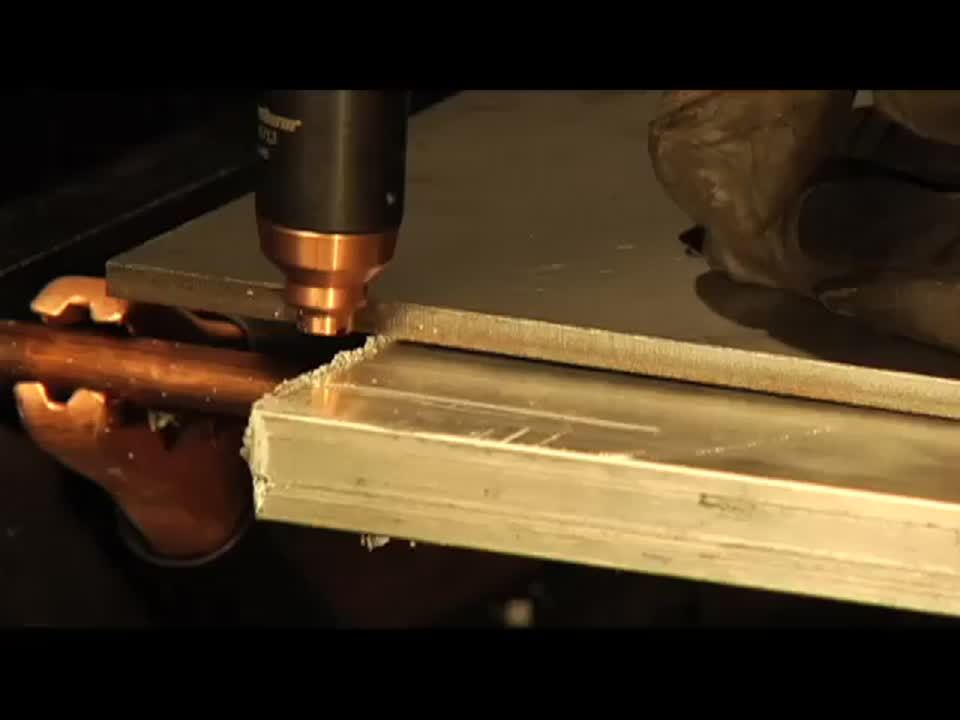 Powermax45 handheld cutting 19mm aluminum
