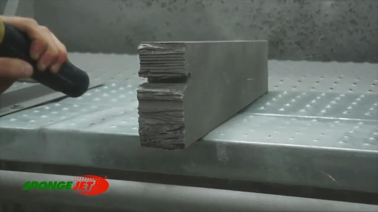 Abrasive Blasting Plasma Cut Steel