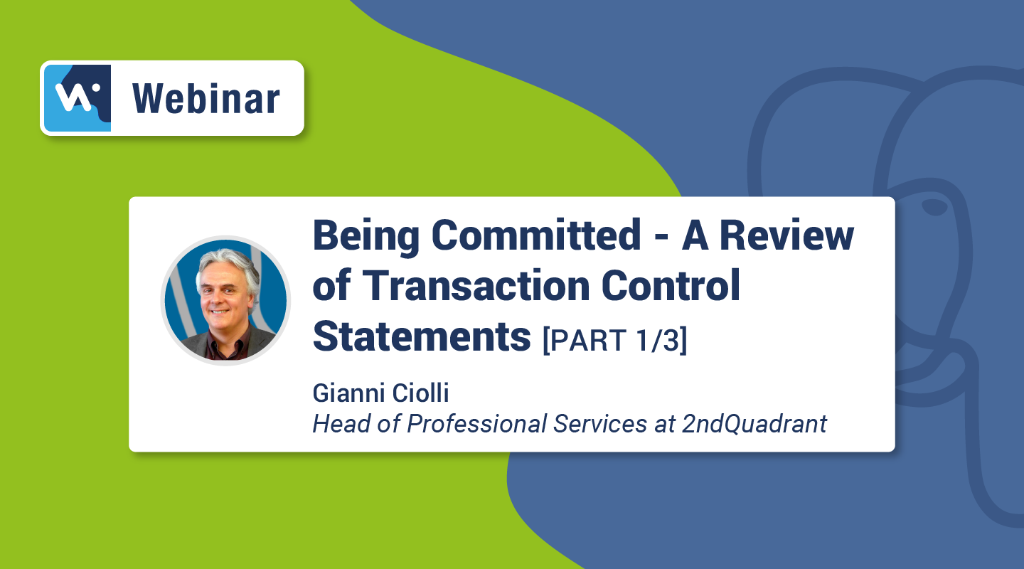 Preview - Being Committed A Review of Transaction Control Statements Part 1
