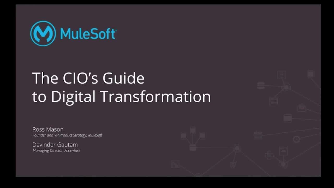Webinar: The CIO's guide to digital transformation strategy