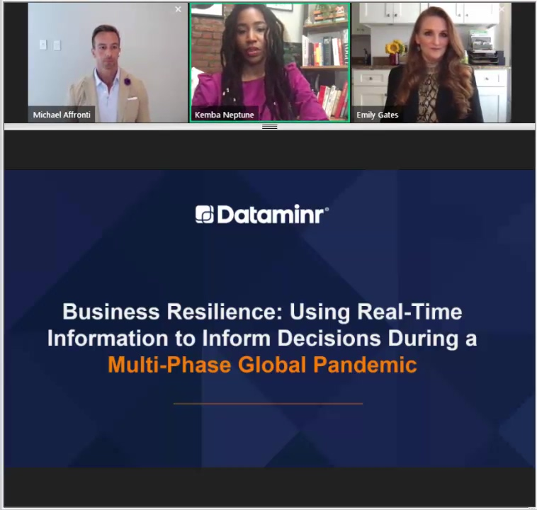 Business Resilience Using Real-Time Information to Inform Decisions During a Multi-Phase Global Pand