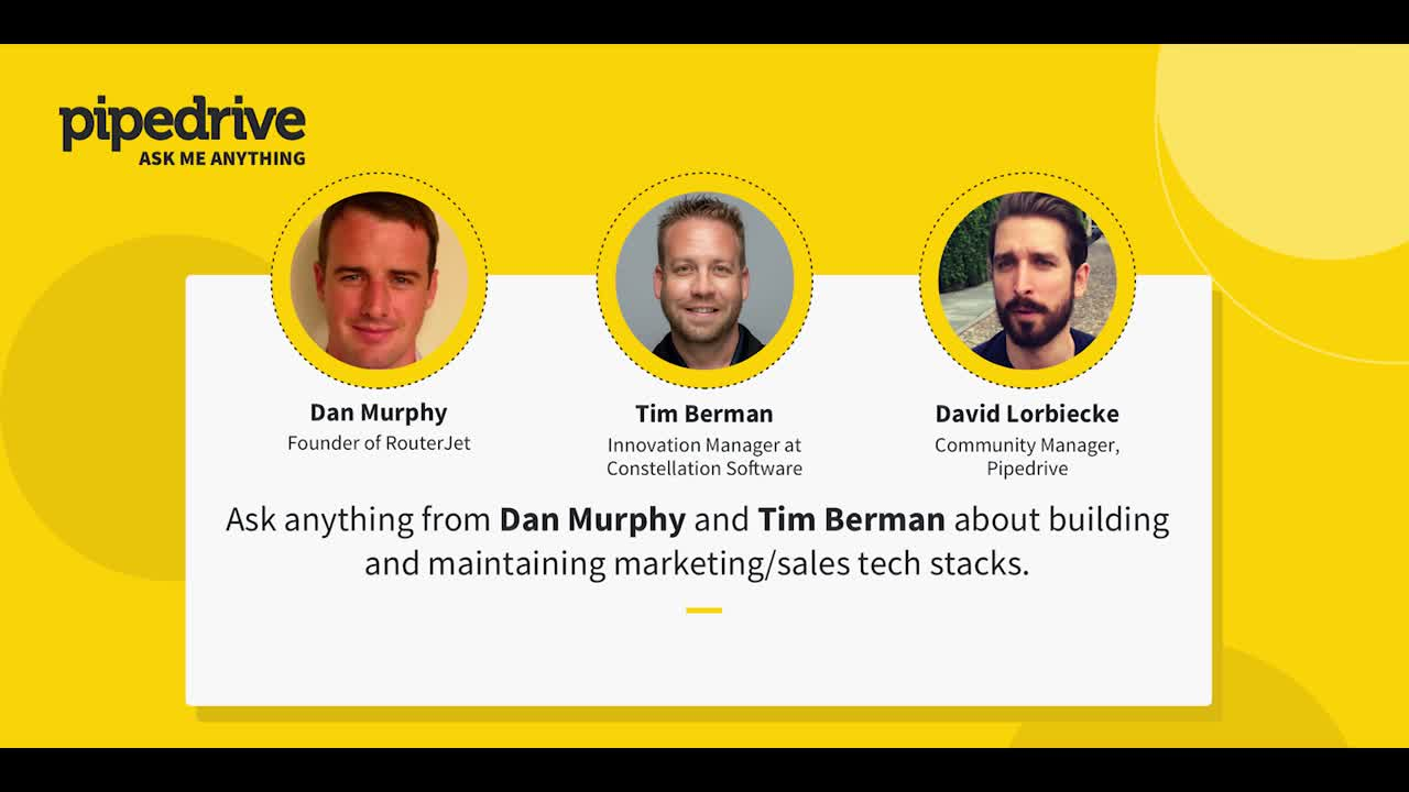 Ask Me Anything: Building and maintaining sales stack