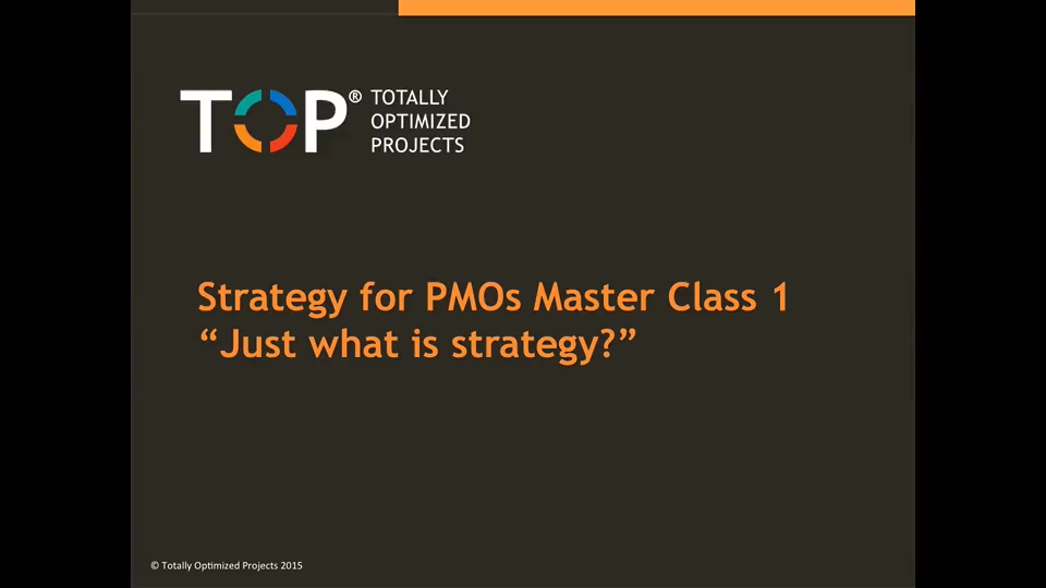 Just what is strategy