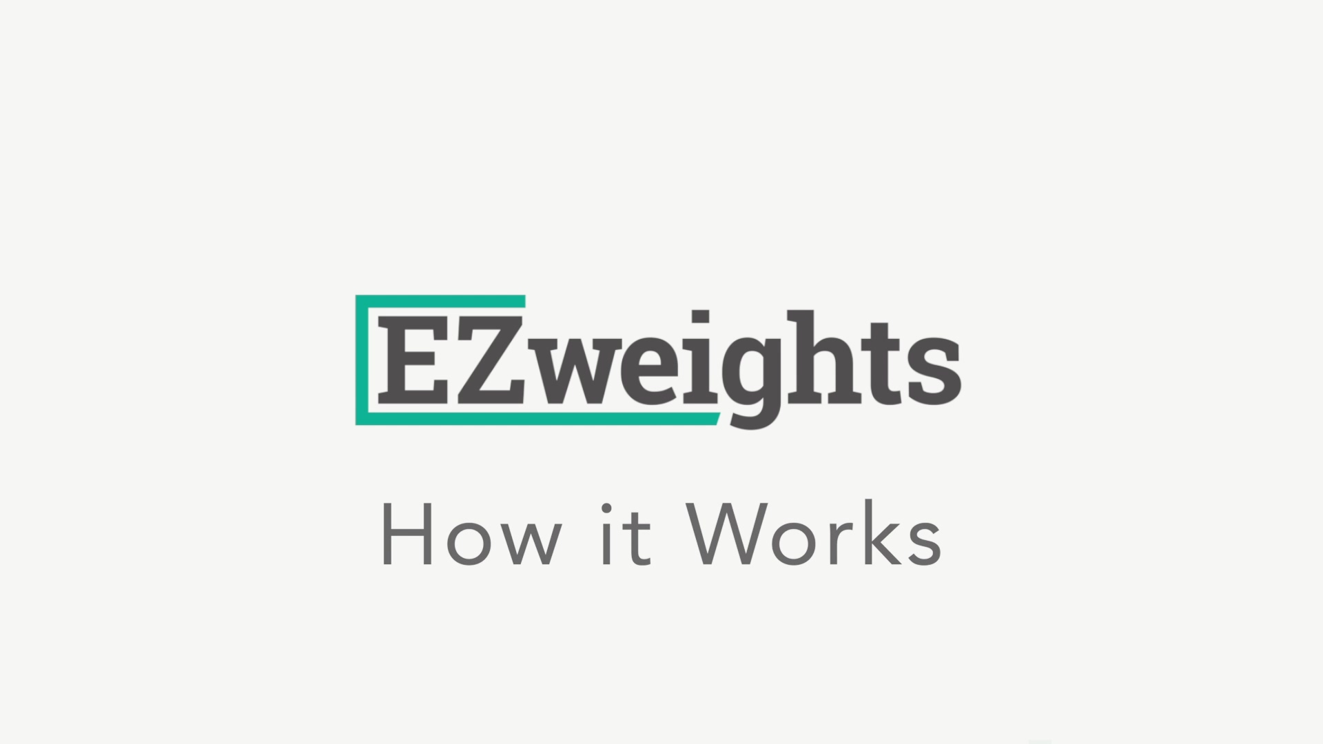 EZweights - How it Works