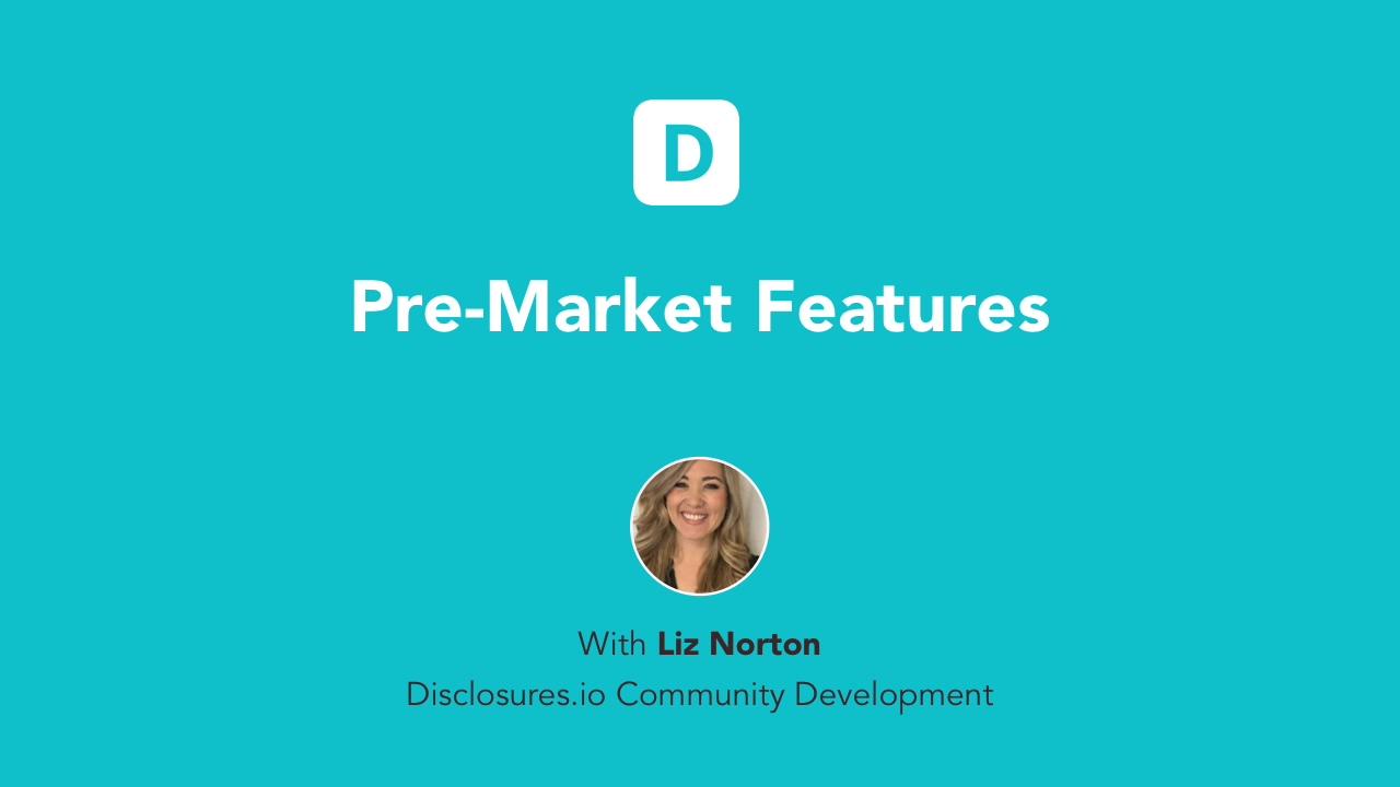 Pre-Market Section 7-29-30
