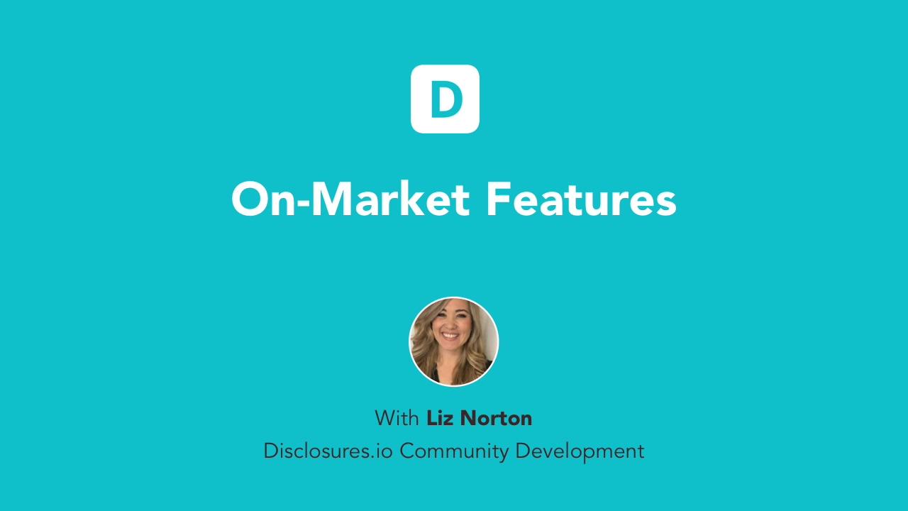 On-Market Breakdown - 7.29.20
