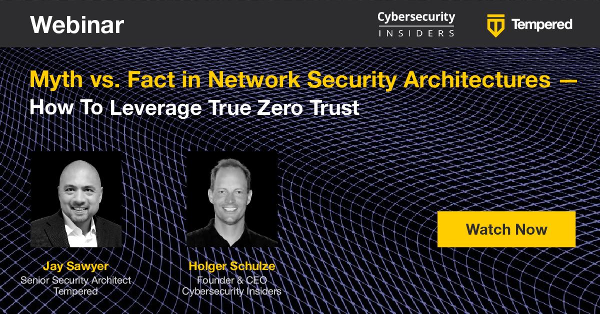 Zero Trust Network Security Webinar Tempered 2020