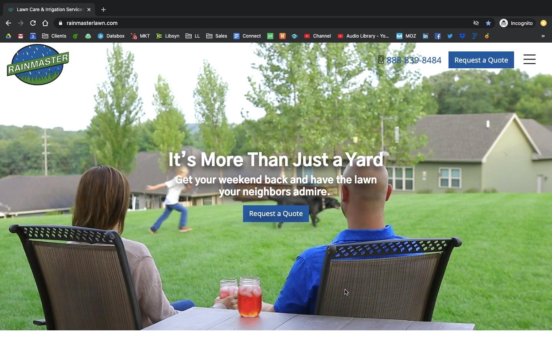 RainMaster Lawn Care Video Loop Homepage