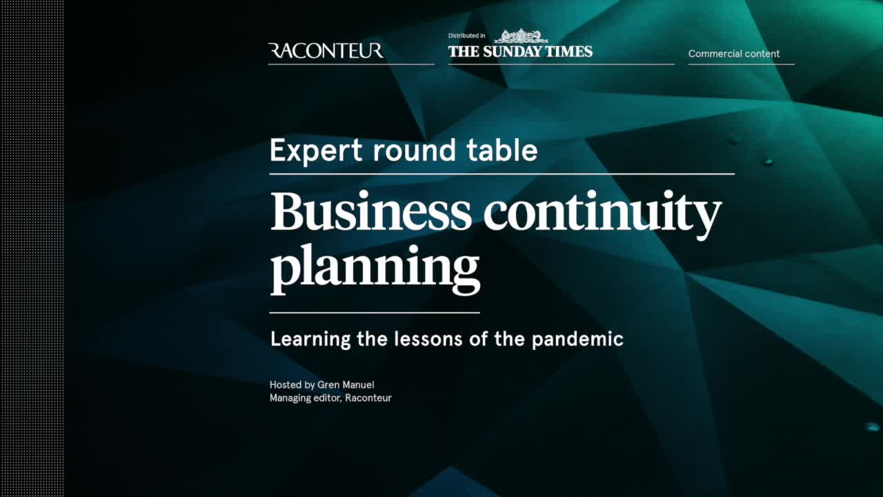 Expert round table: business continuity planning