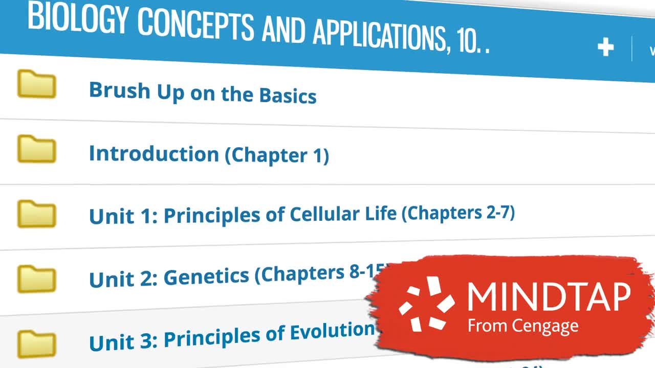 Why Study Biology Using <i>MindTap</i> from Cengage?