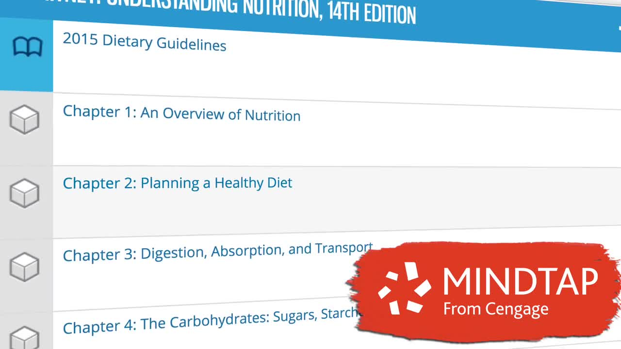 Why Study Nutrition Using <i>MindTap</i> from Cengage?
