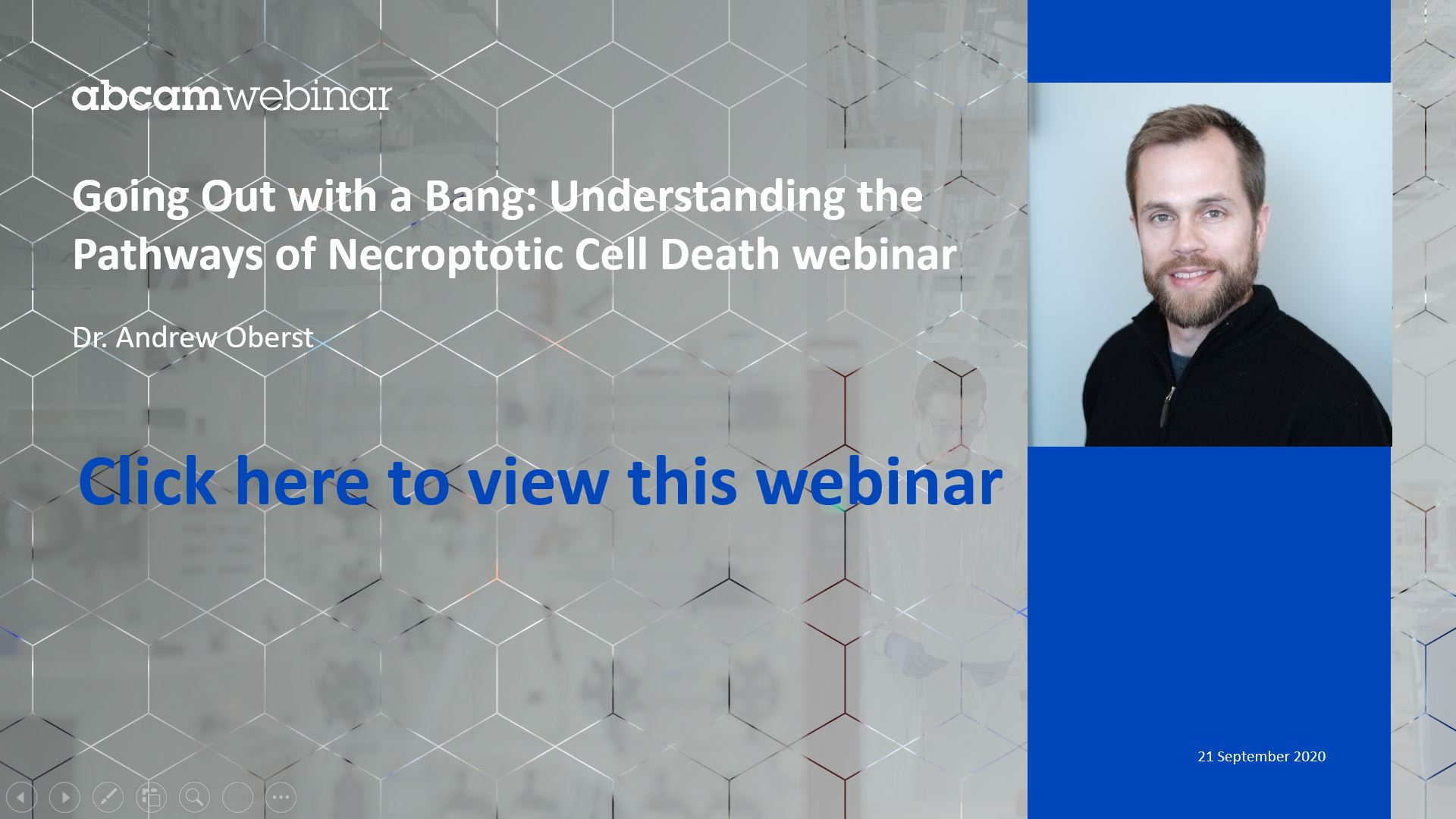 Going Out with a Bang: Understanding the Pathways of Necroptotic Cell Death Webinar