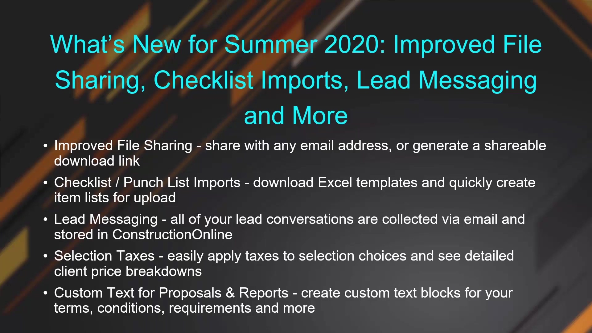 What's New for Summer 2020 - Improved File Sharing, Checklist Imports, Lead Messaging and More