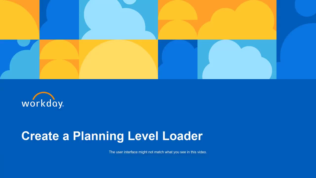Create a Planning Level Loader