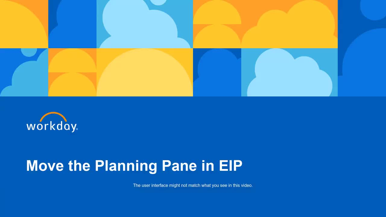 Move the Planning Pane in EIP