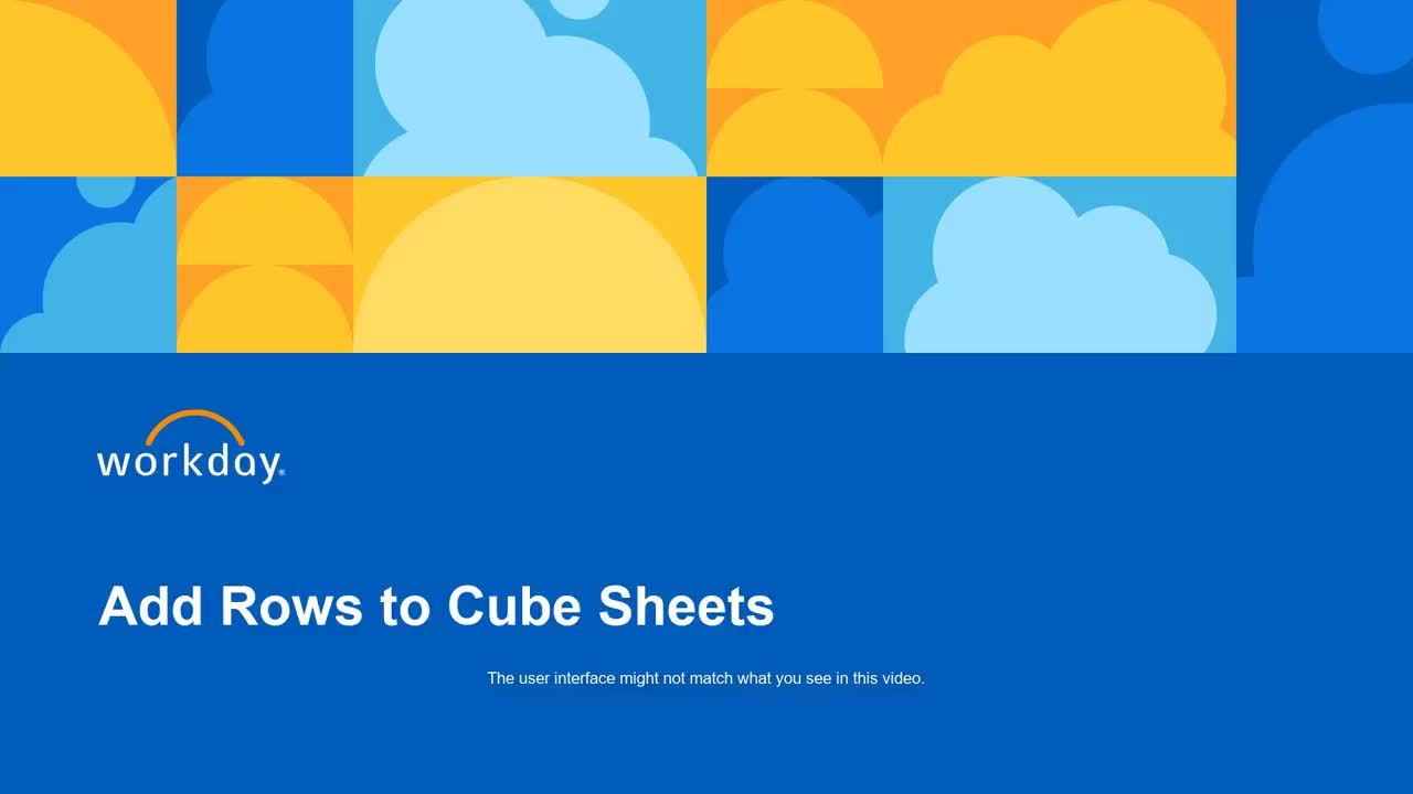 Add Rows in Cube Sheets
