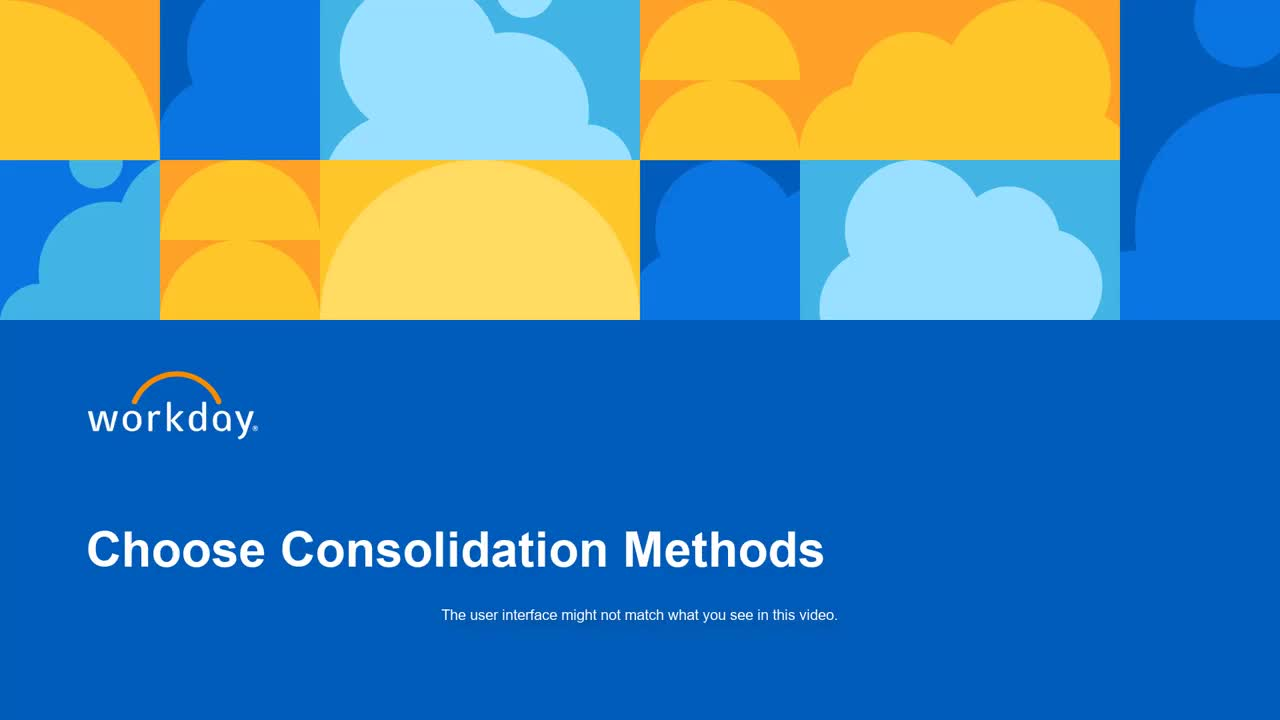 Choose Consolidation Methods