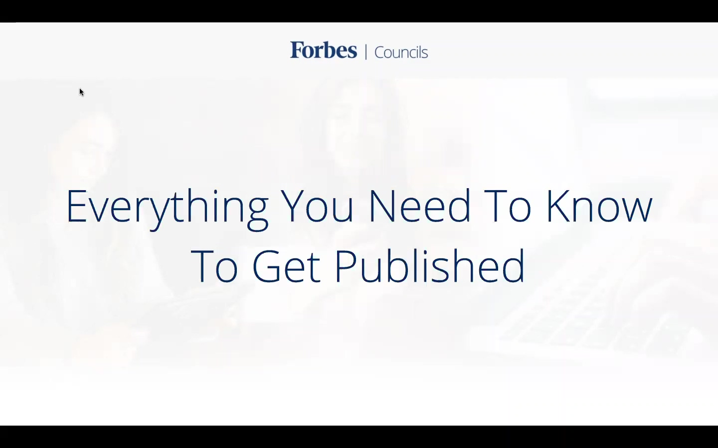 Publishing with Forbes Councils 202008