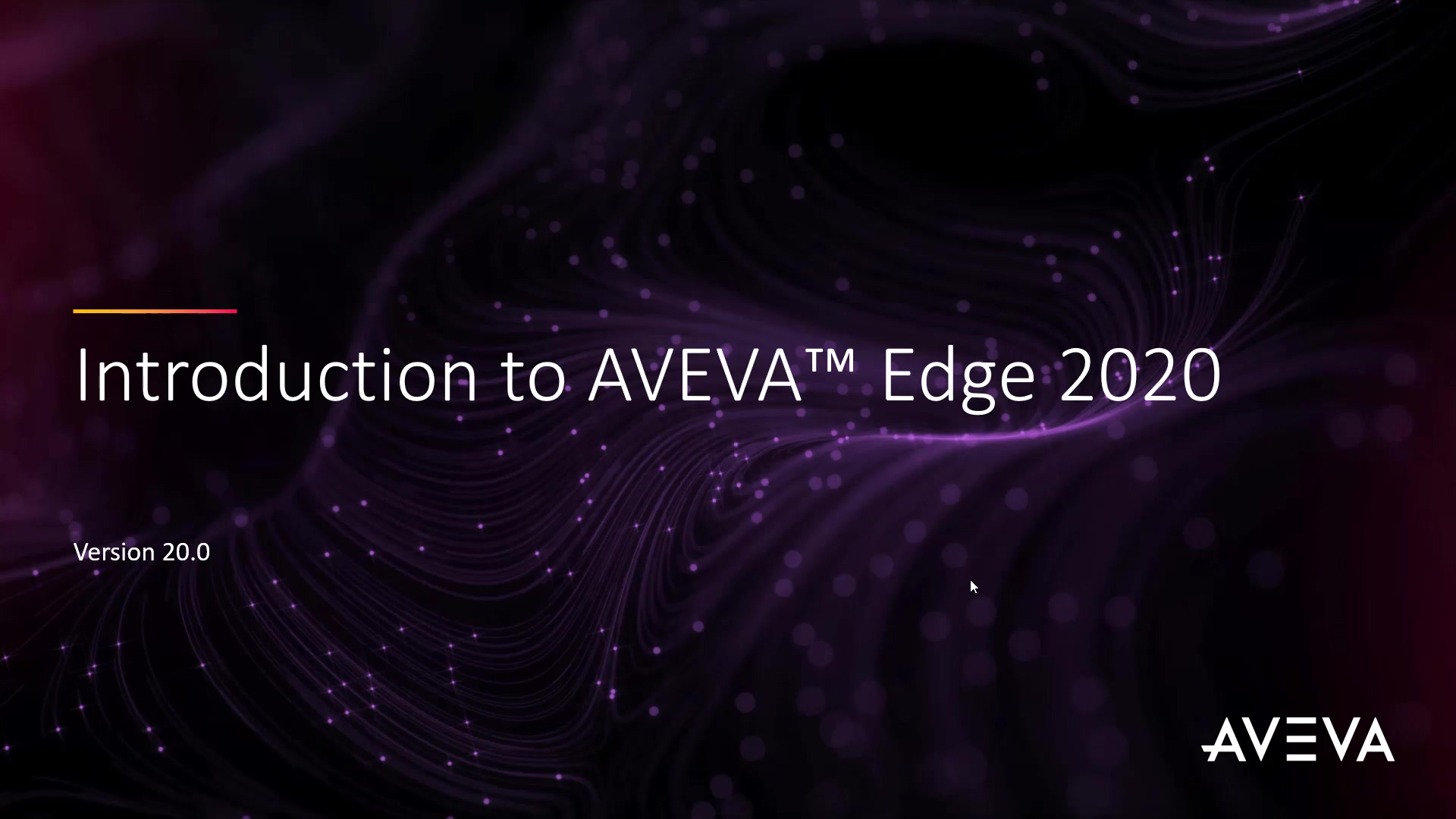 Video_AVEVA Edge 2020 Introduction_07-20