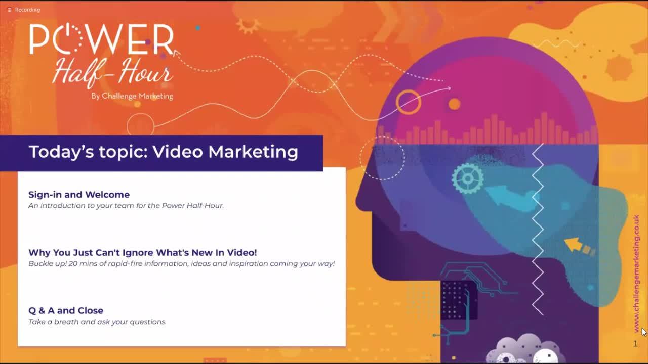 Video marketing webinar 2020