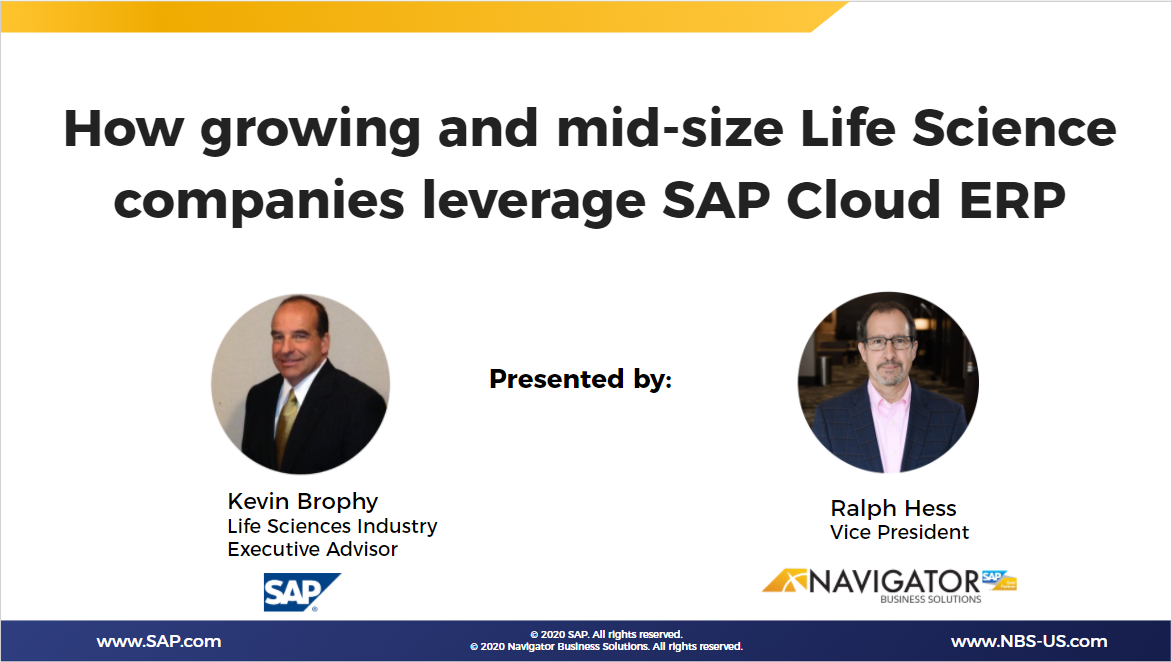 How growing and mid-size Life Science companies leverage SAP Cloud ERP
