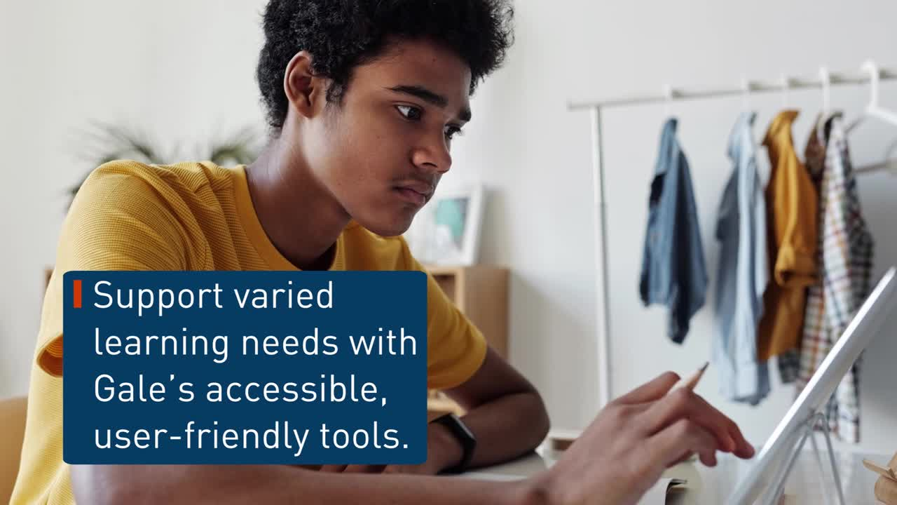 Gale Tools - Accessibility and Support for All Learners Thumbnail