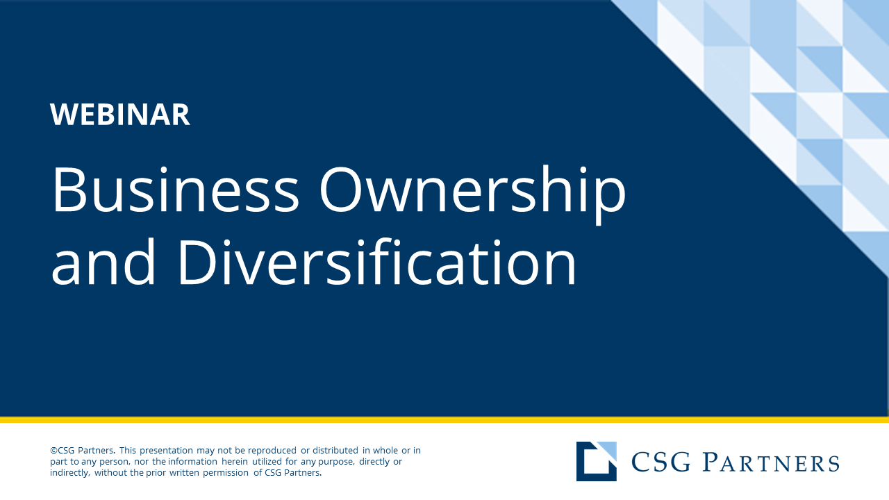 CSG - Business Ownership & Wealth Diversification (Vistage)