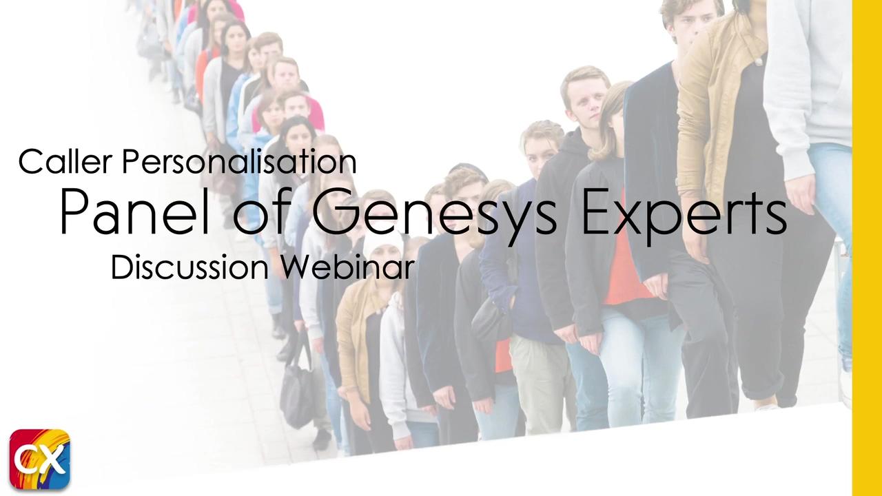 Genesys Panel of Experts Webinar 720