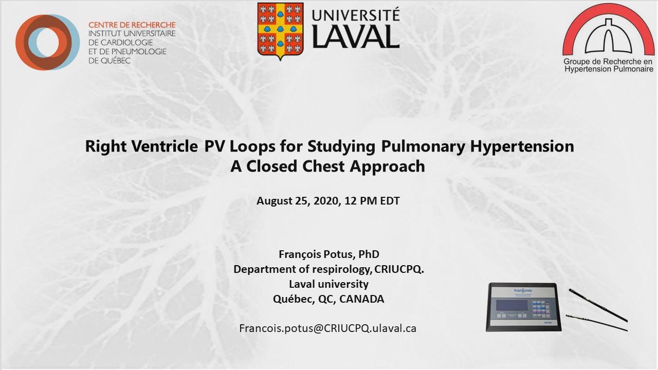 Francois Potus - RV PV Loops for PAH
