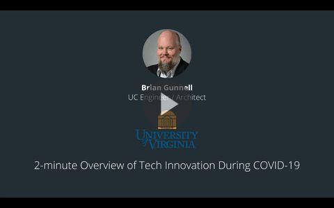 Brian Gunnell - UC Engineer, University of Virginia - August 26th, 2020