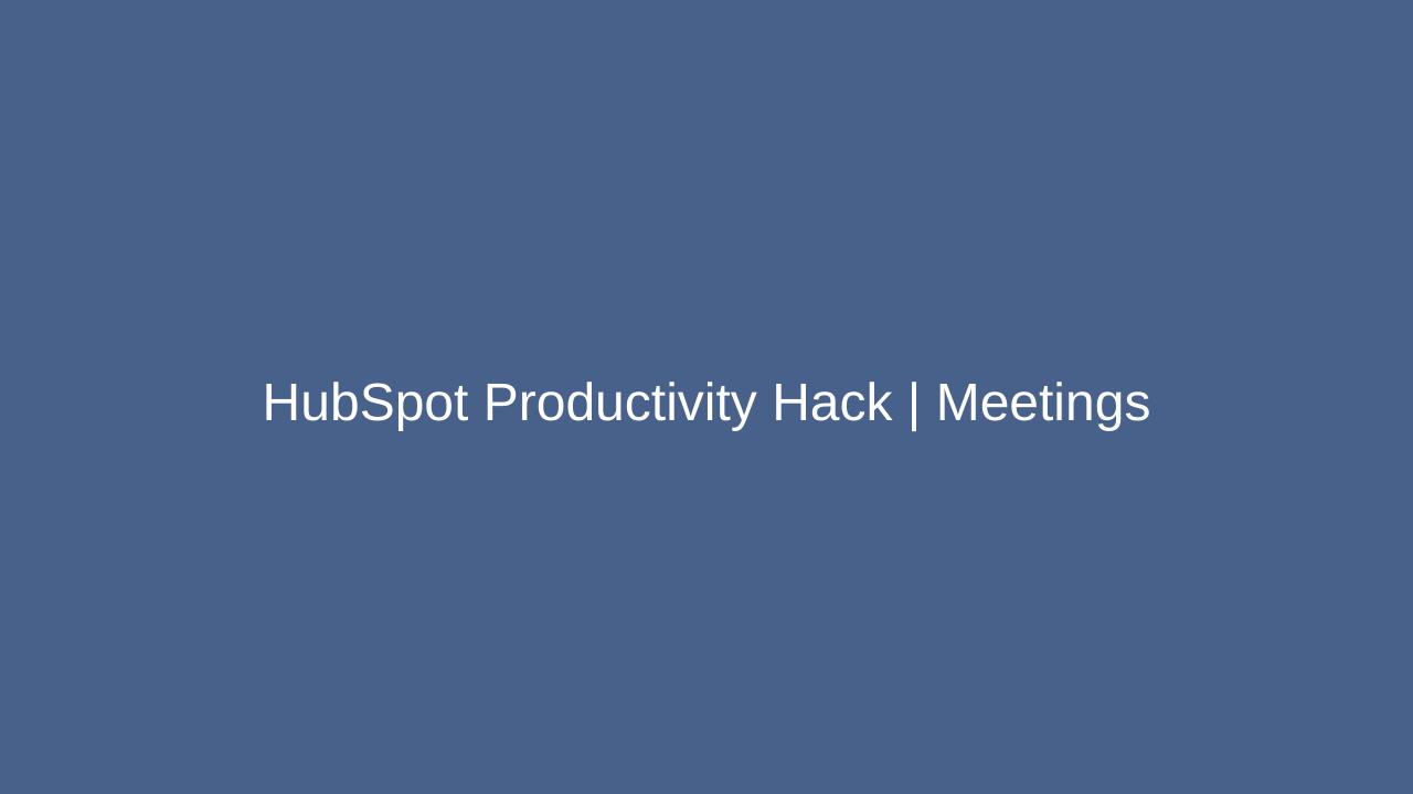 HubSpot Productivity Hack _ Meetings