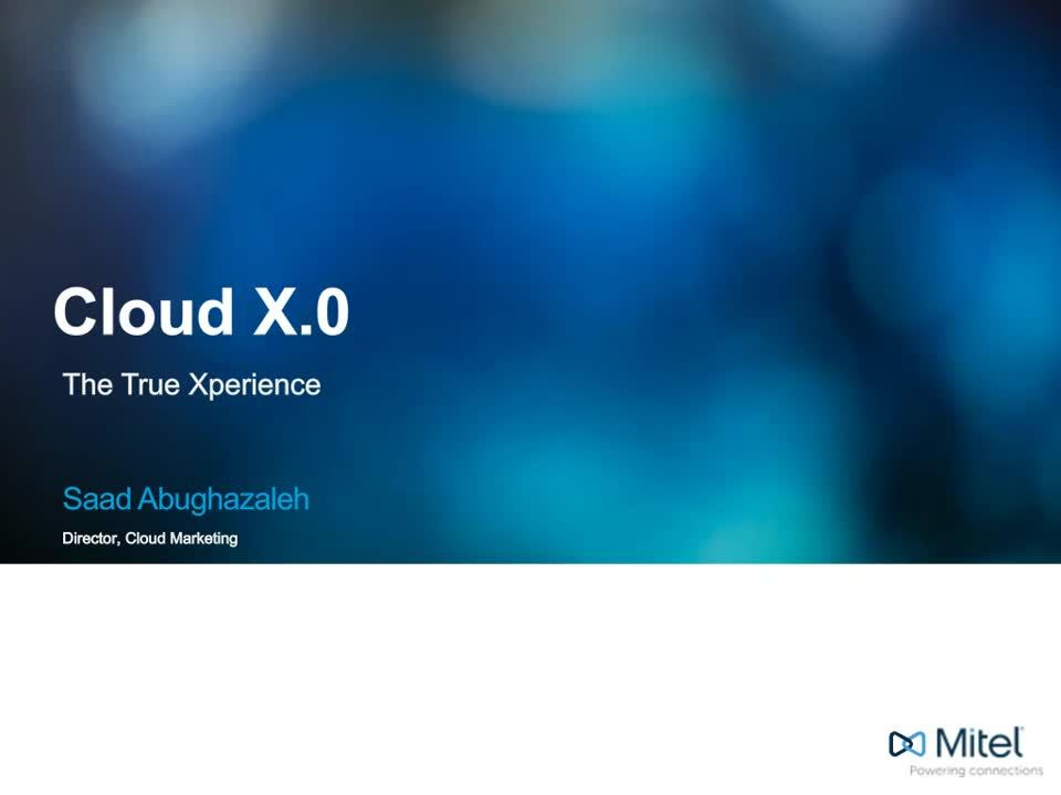Cloud X.0: The True Xperience Webinar for No Index Page for Email Blast