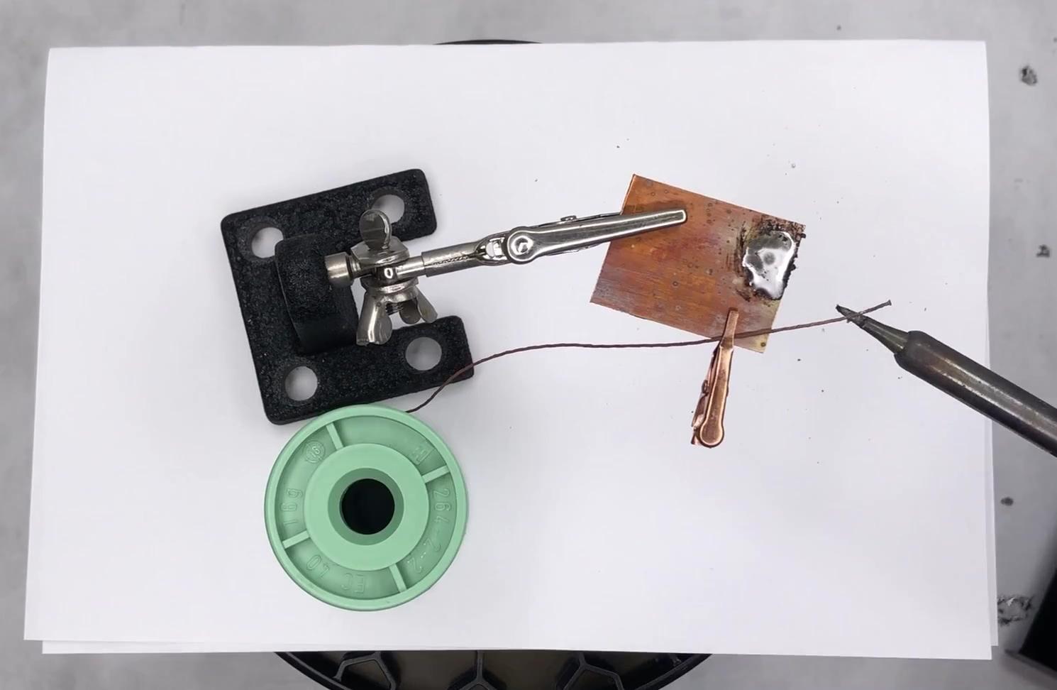 solder cu coated yarn cropped