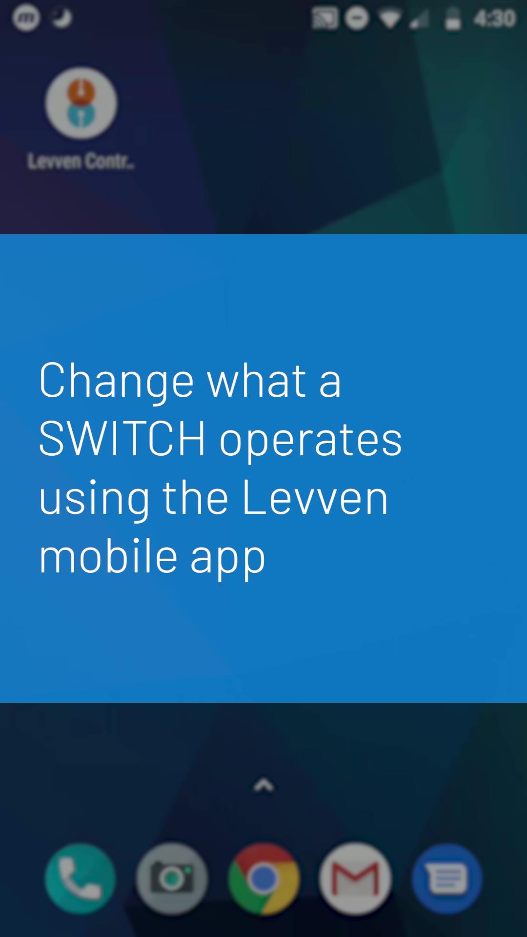 Levven App Configure Switches_1