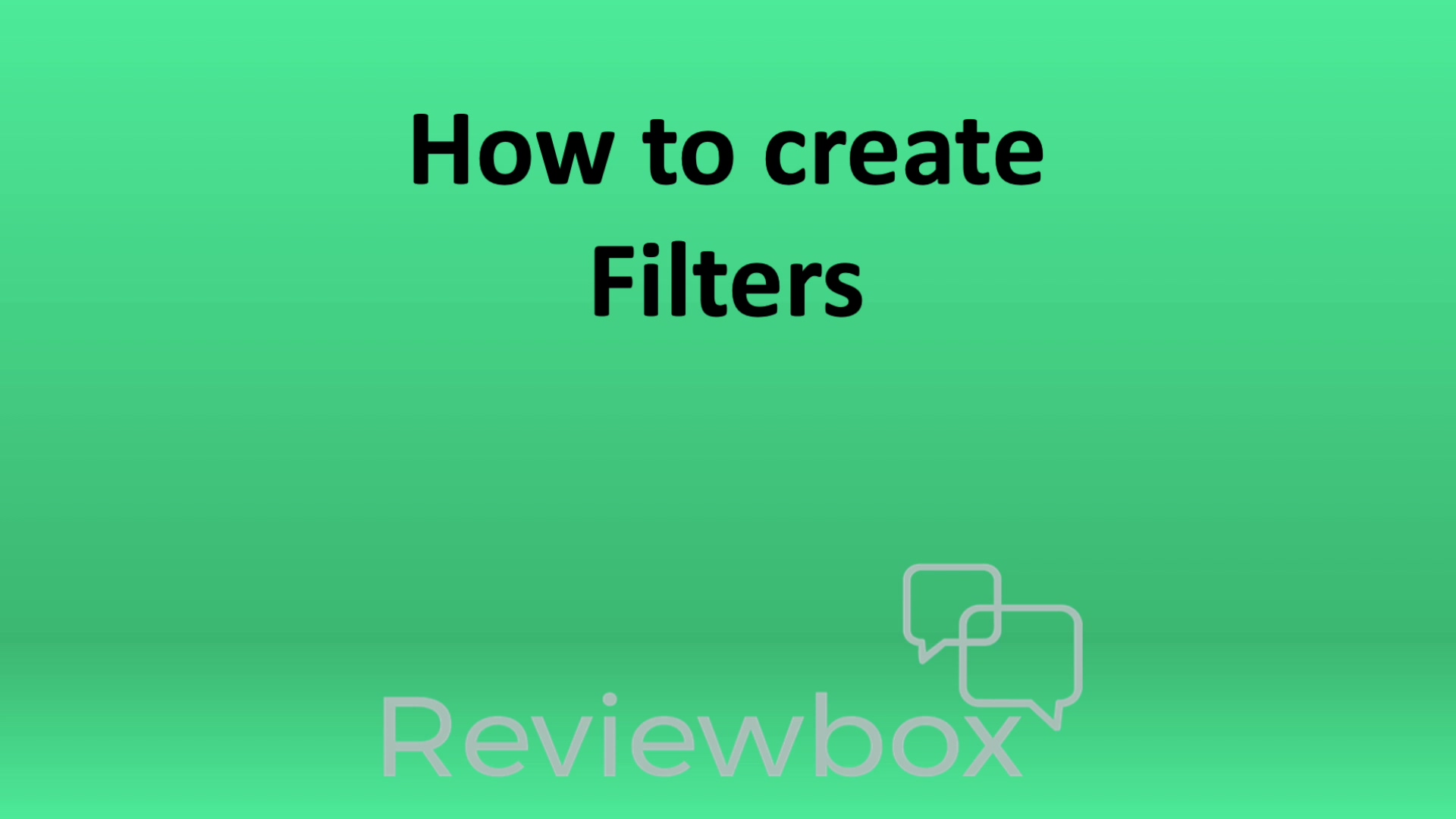 How to create filters (with music)