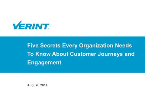 Five Secrets of The Customer Journey and Engagement