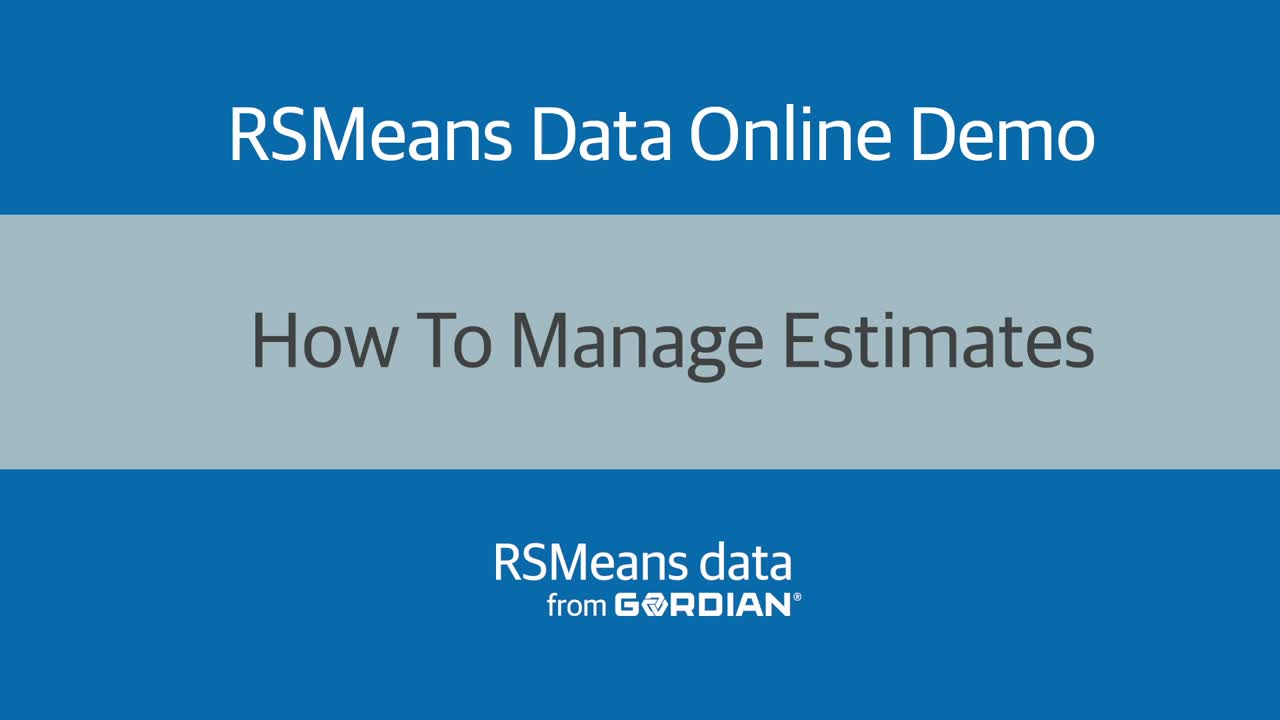How To Manage Estimates