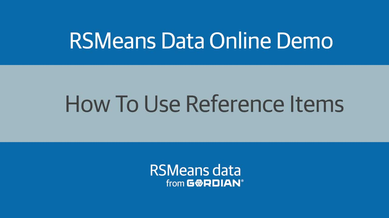 How To Use Reference Items